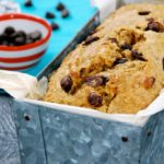 dark chocolate chip banana bread healthy lunch snack