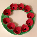 talking kids remembrance day craft wreath preschool