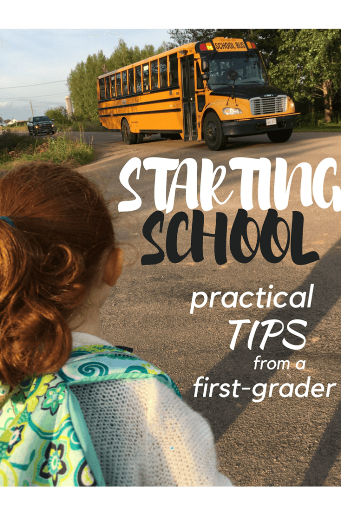 practical tips for starting school kindergarten