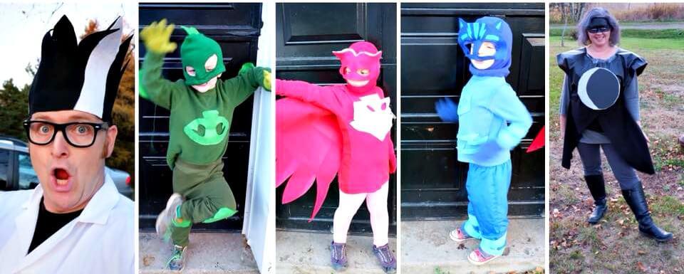 Pj Masks Halloween Costume.Pj Masks Halloween Costume Family Of Five Pickle Planet Moncton