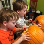 pumpkin carving toasting seeds
