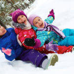 kids enjoying winter on sled moncton riverview dieppe weekend events