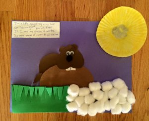 groundhog day craft kids weather winter spring