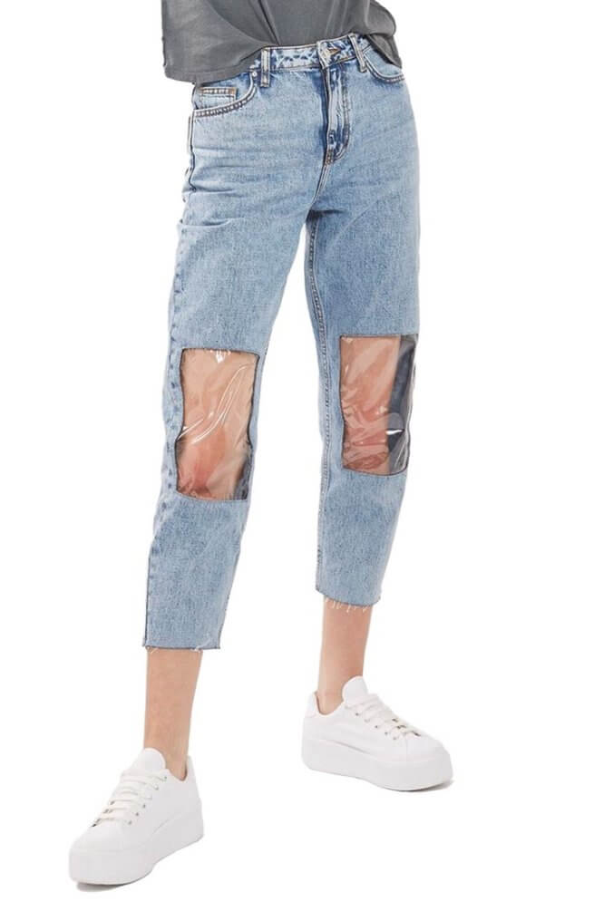 mom jeans plastic knees