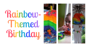 rainbow birthday party diy theme ideas cake