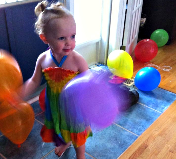 rainbow birthday party little girl diy