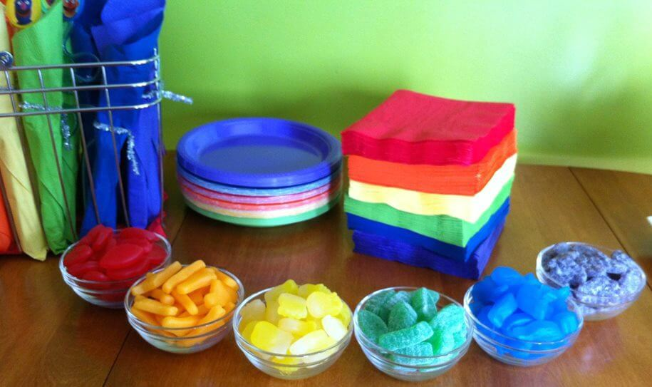 rainbow birthday party treats snacks food