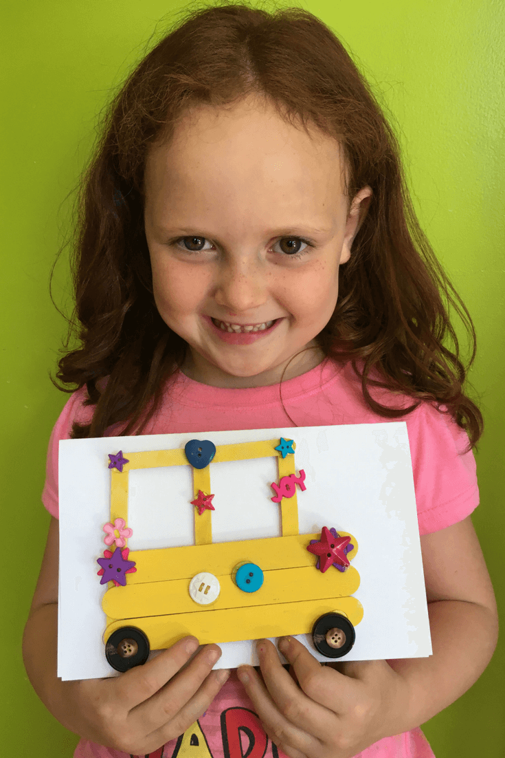 school bus craft back to school kindergarten preschool