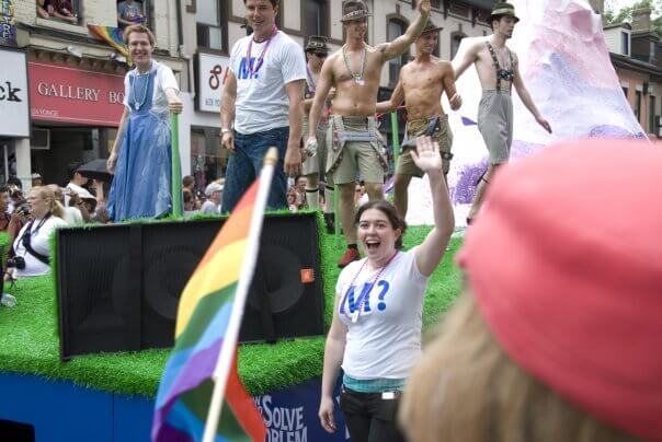 take kids pride parade toronto moncton John Barrowman Jenna Morton