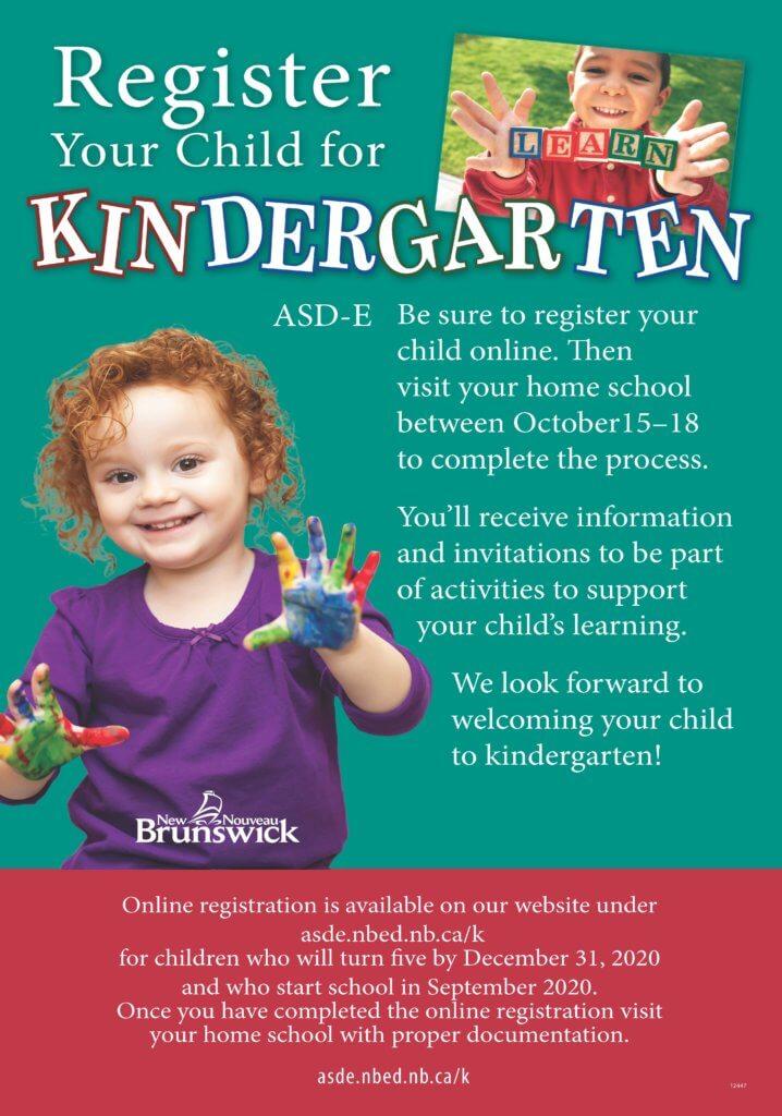 how to register for kindergarten in new brunswick