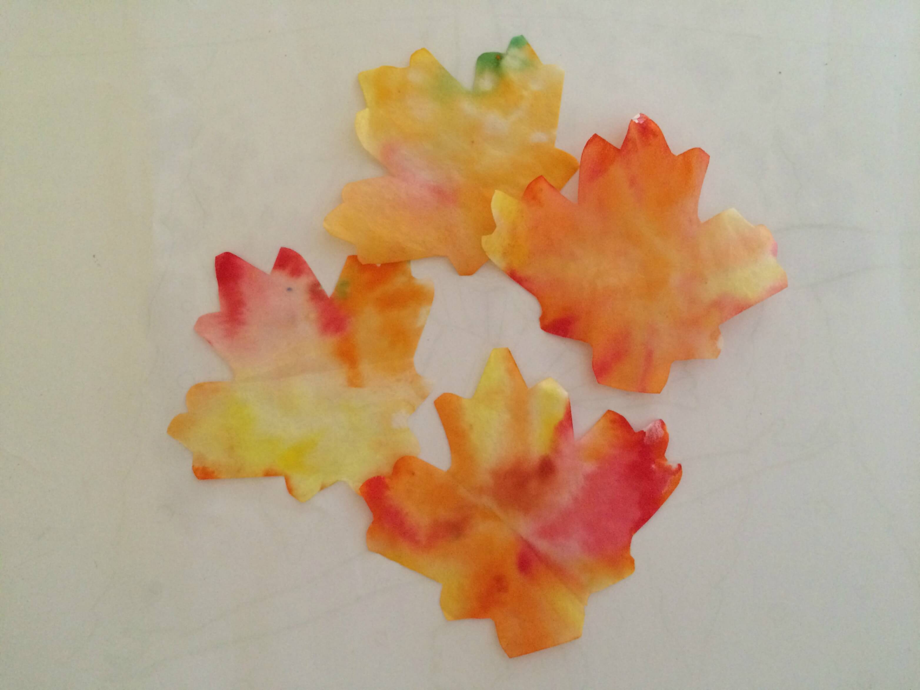 DIY Coffee Filter Fall Leaf Banner leaves