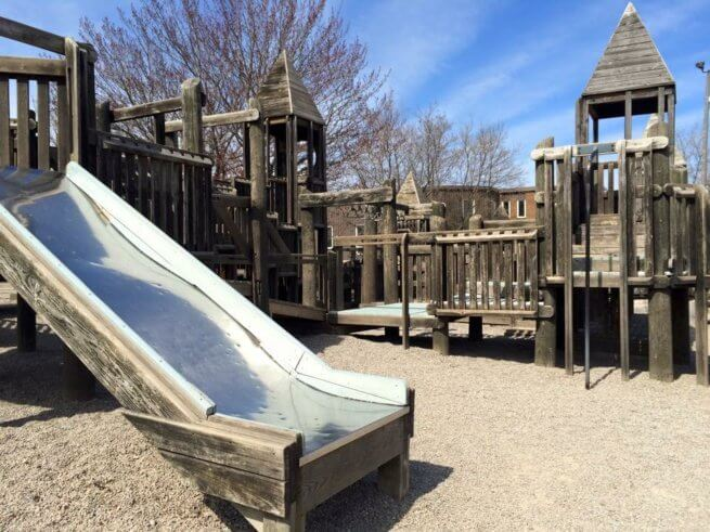 frank l bowser playground riverview all world super play park wooden castle
