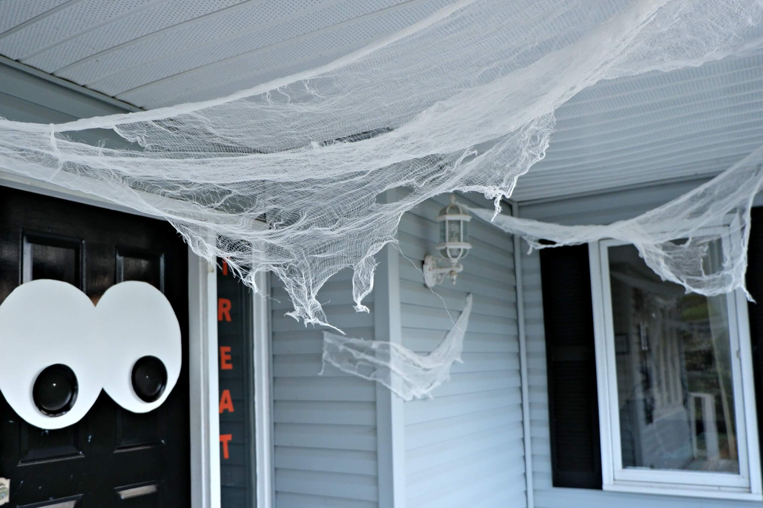 Quick And Easy Decorating Ideas Outdoor Spider Web