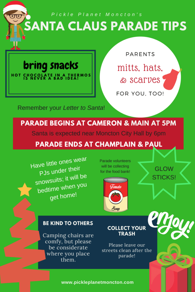 tips for the moncton santa parade