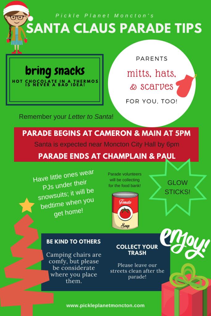 tips for the moncton santa parade