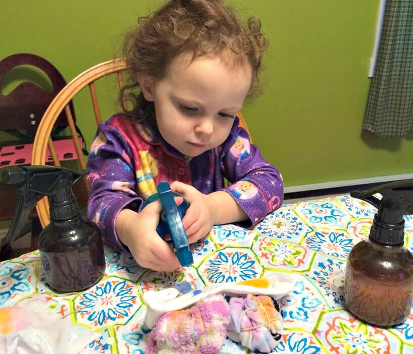 Our homemade christmas gift tradition pickle planet moncton making tie dye socks for negle Choice Image