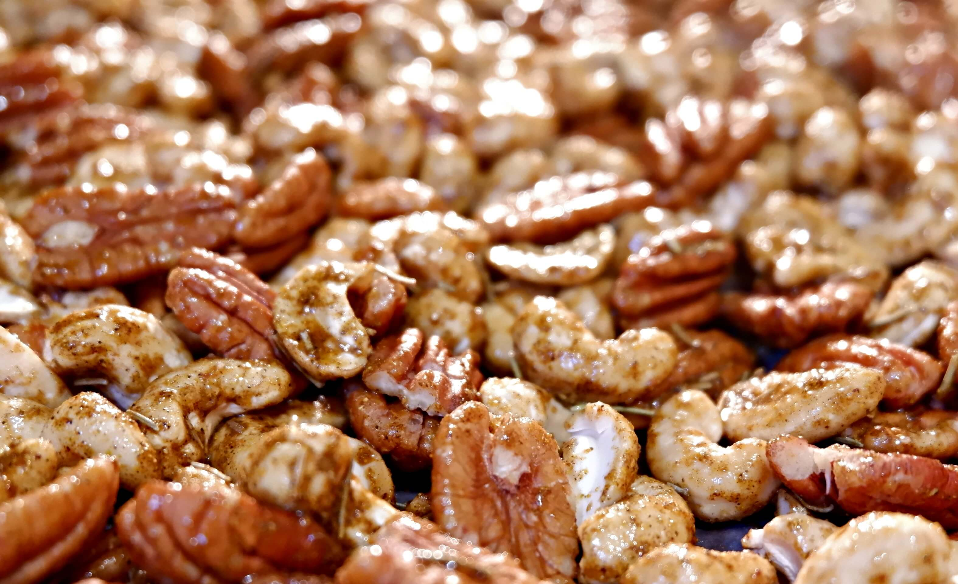curried christmas nuts recipe spiced healthy snack