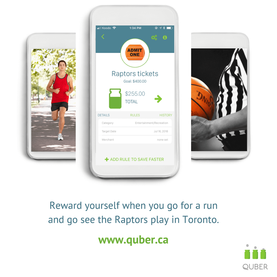 saving money quber app moncton fun challenge
