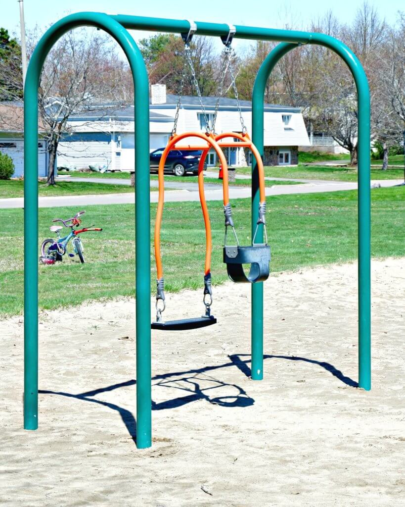 best playground park moncton riverview dieppe Goldsboro Park baby and me swing