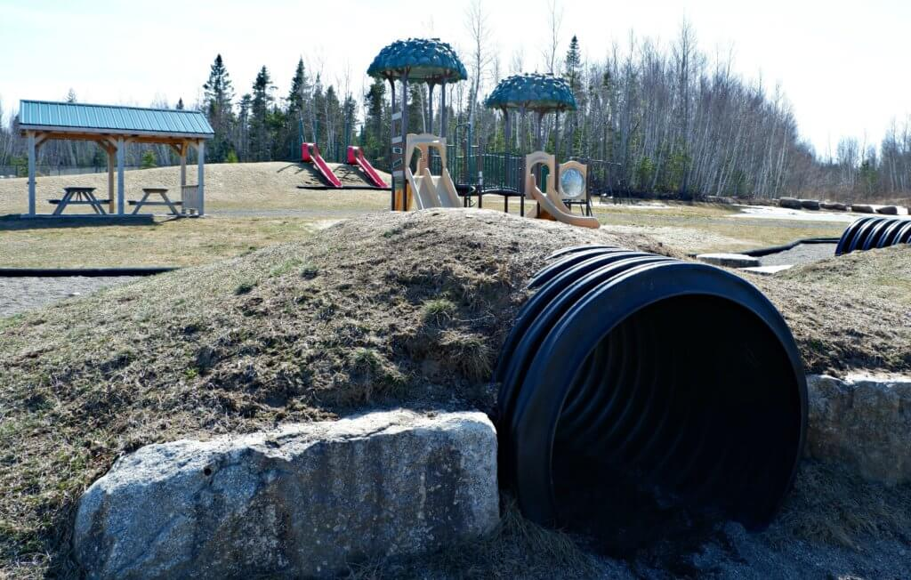 rebecca avenue playground park riverview moncton pickle planet natural play