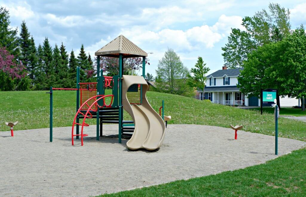 grove hamlet moncton riverview dieppe best playground park pickle planet double slide