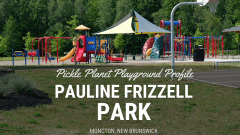 PAULINE FRIZZELL PARK moncton riverview dieppe best playground pickle planet SPLASH PAD