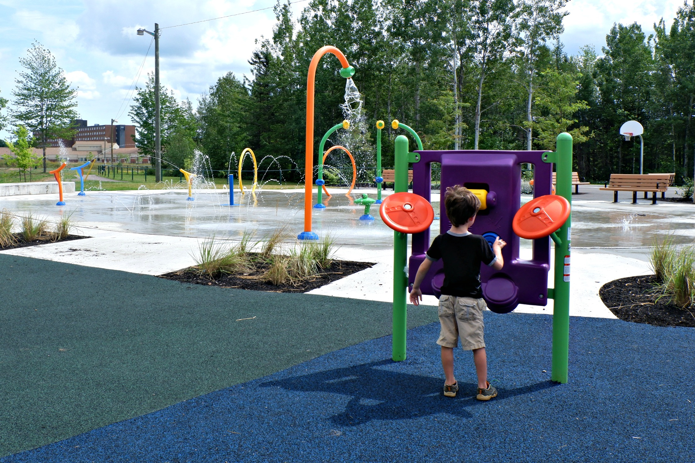 fairview knoll playground park moncton splash pad pickle planet near highway basketball court