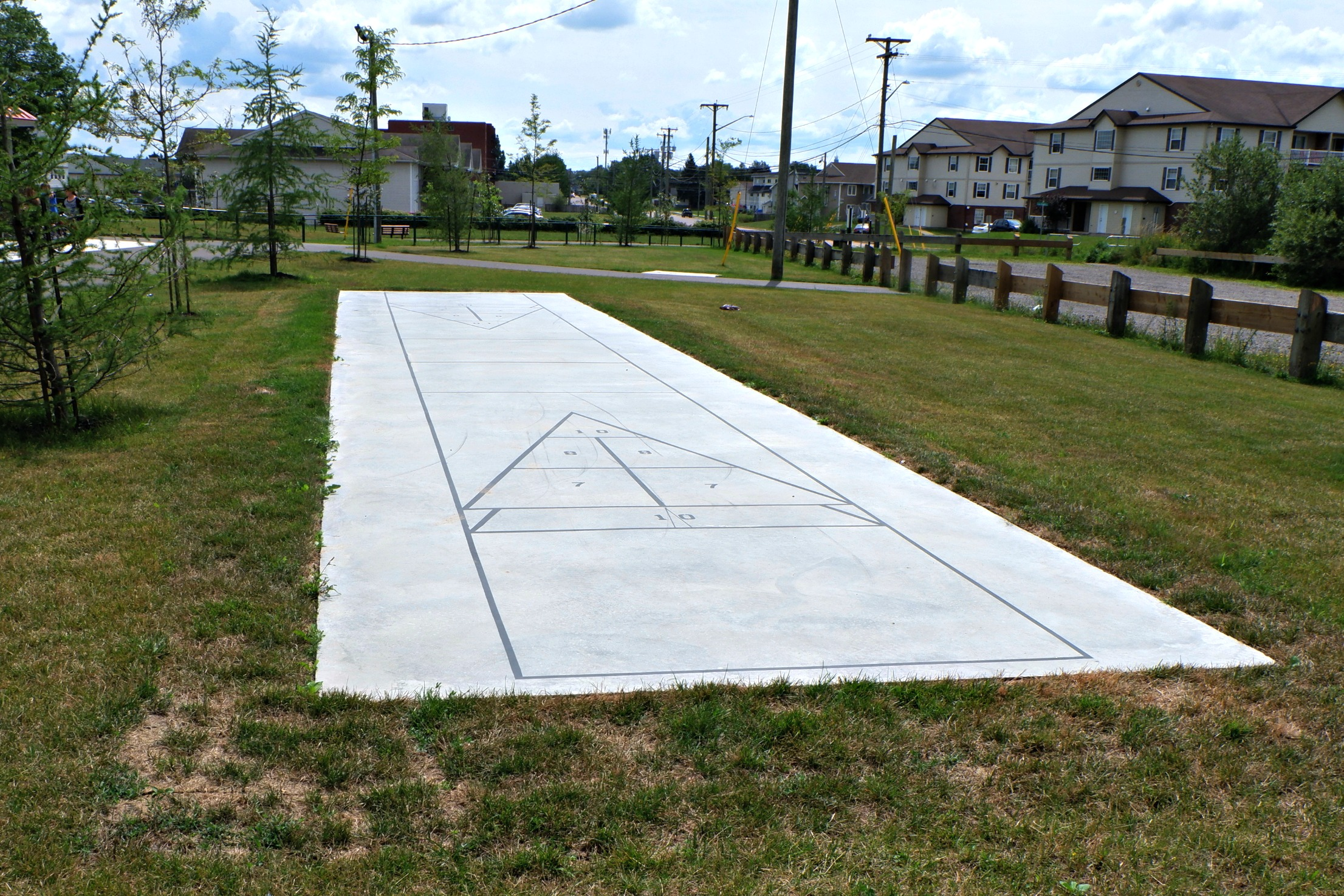 fairview knoll playground park moncton splash pad pickle planet near highway shuffle board