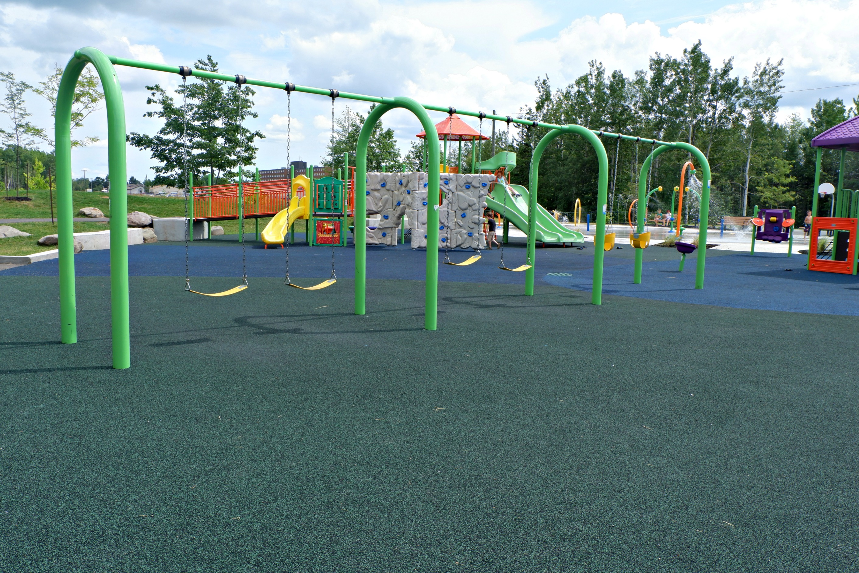 fairview knoll playground park moncton splash pad pickle planet near highway swings