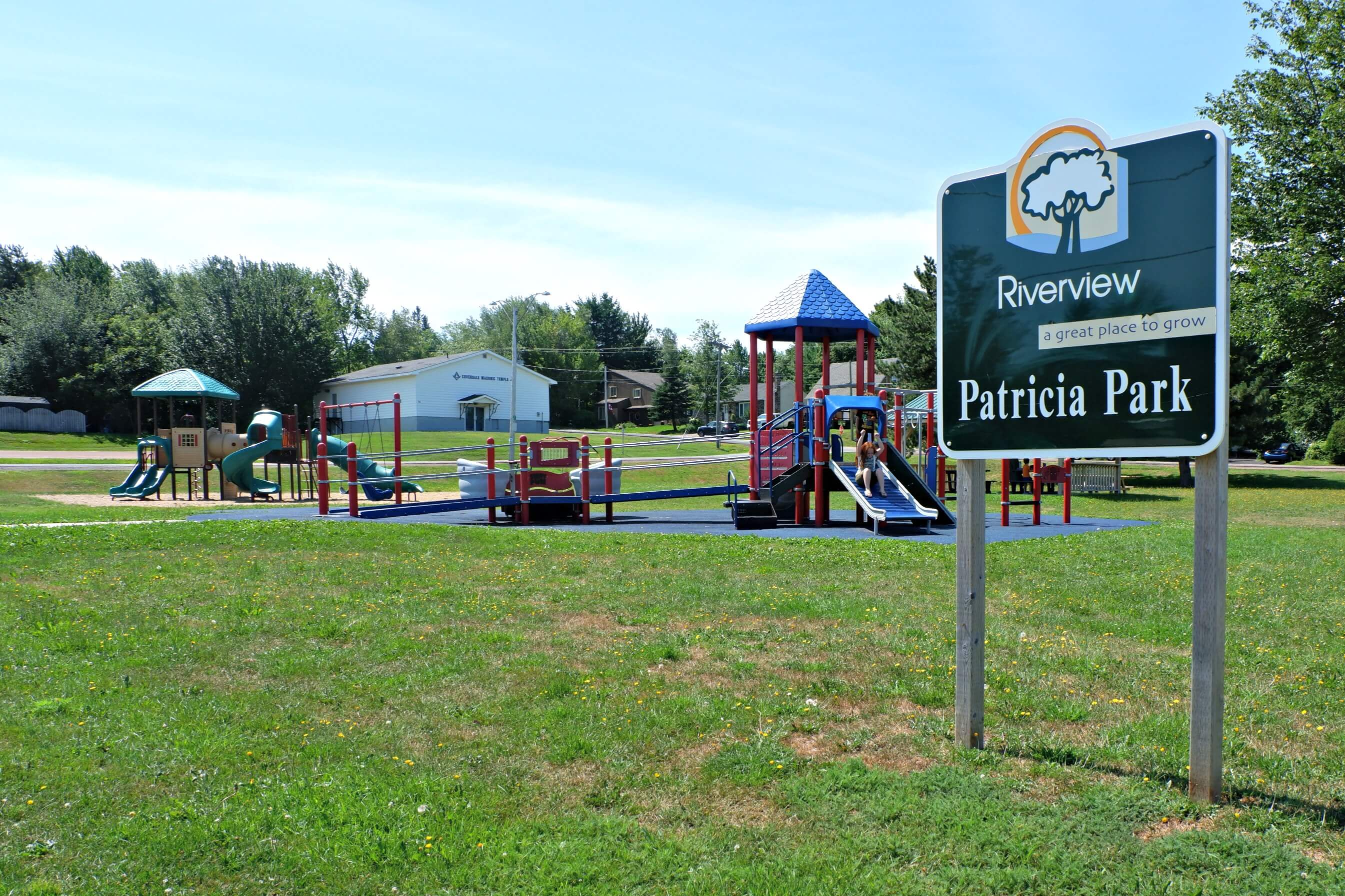 riverview patricia park tot lot accessible playground pickle planet tot lot