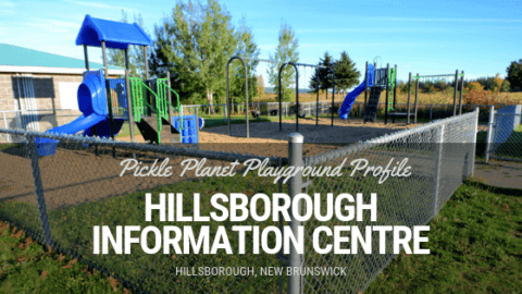Hillsborough playground PICKLE PLANET MONCTON fenced in fundy park
