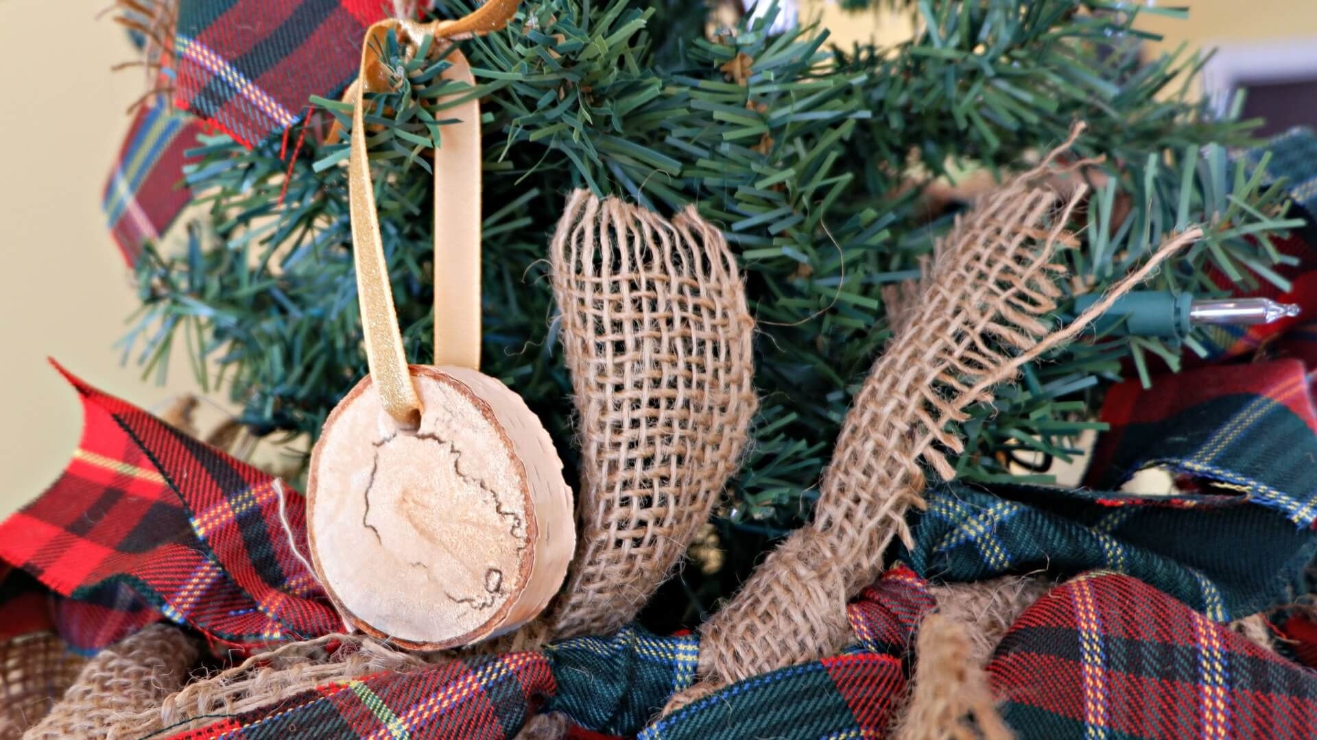 Scottish Pioneer Inspired Christmas Tree MyNBChristmasTree New Brunswick pickle planet birch wood ornament