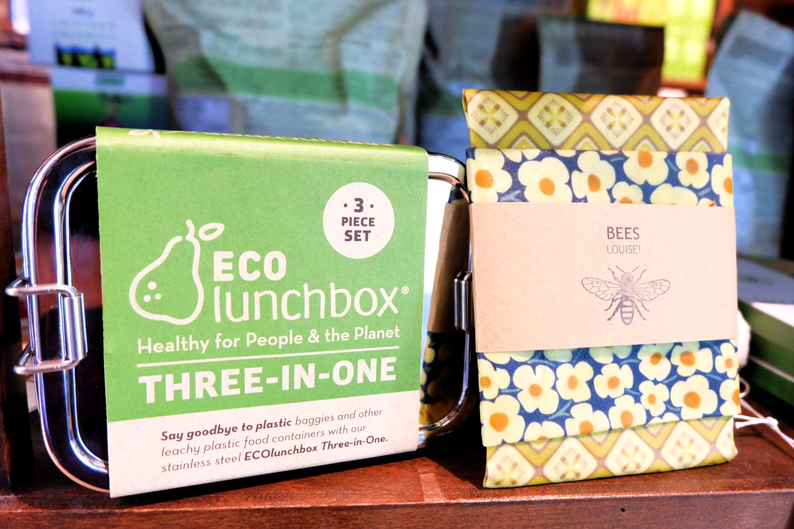 Sequoia Downtown Eco Lunch Box Beeswax Wraps Environmentally