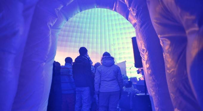 riverview winter carnival inflatable igloo winter wonderland park ignite fun