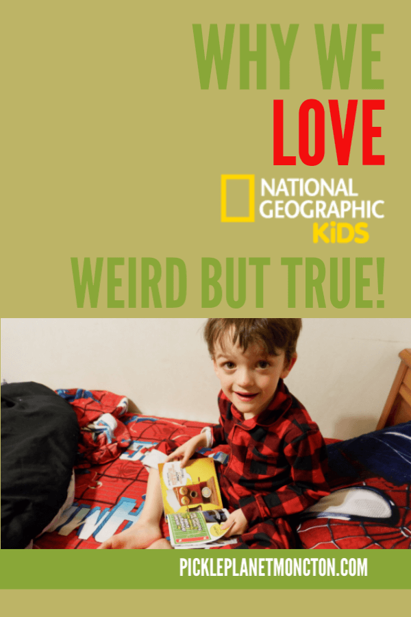 young boy reading book on bed weird but true national geographic kids book review pickle planet moncton