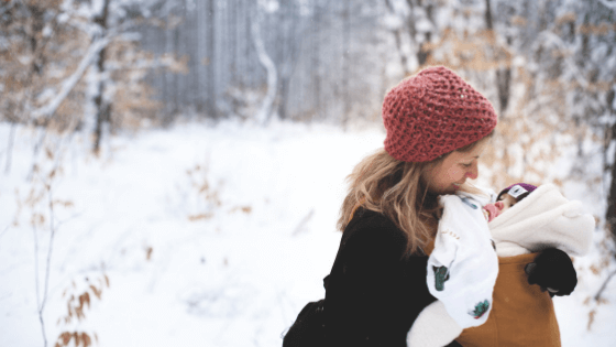 winter maternity leave survival mom tips
