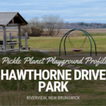 HAWTHORNE DRIVE PARK RIVERVIEW playground moncton PICKLE PLANET RIVERFRONT ACCESSIBLE NATURAL