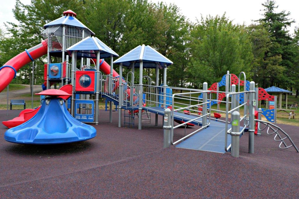 accessible inclusive playground moncton centennial park pickle planet