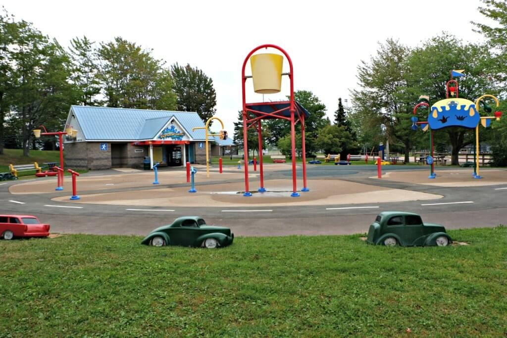 inclusive accessible playground moncton centennial park splash park pad