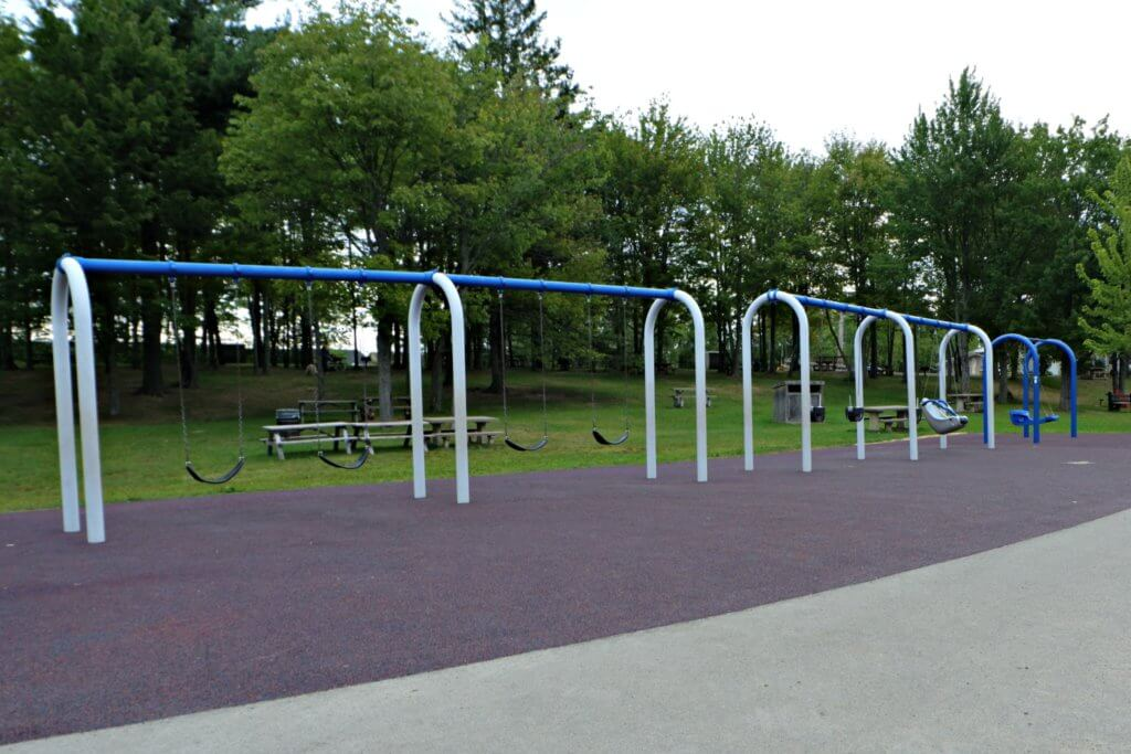 inclusive accessible playground moncton centennial park swings