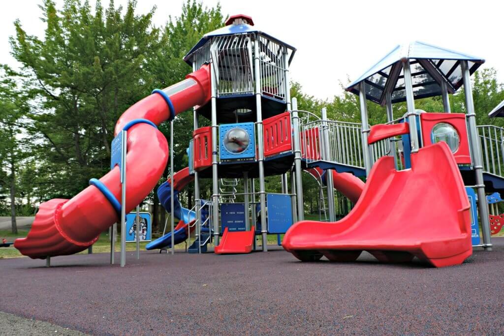 inclusive playground moncton centennial park pickle planet slide