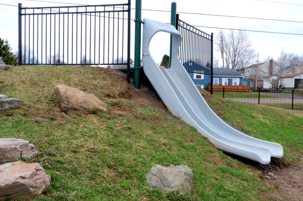 riverview hawthorne drive park playground moncton pickle planet natural double slide