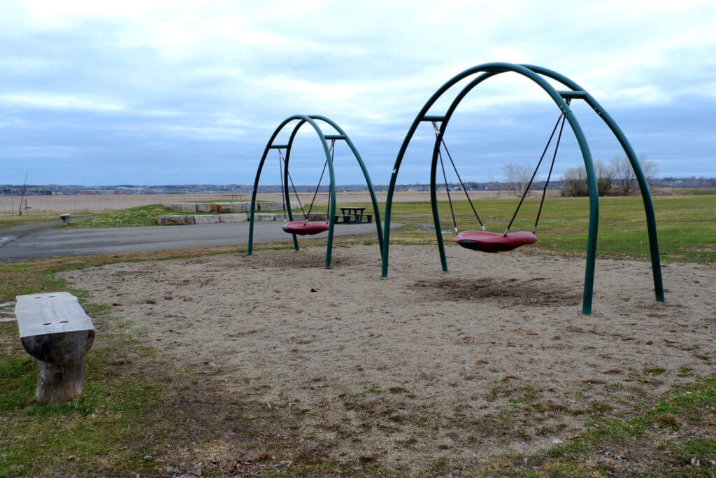 riverview hawthorne drive park playground moncton pickle planet natural zipline saucer swings