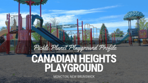 canadian heights playground park moncton north end pickle planet shade swings double slide