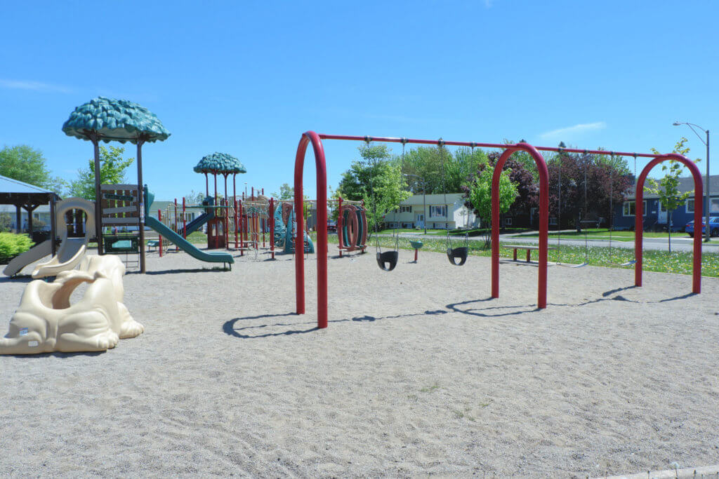 canadian heights playground park moncton north end swings