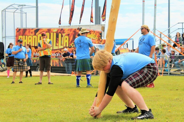 moncton highland games caber toss heavy events photo lorne swansburg