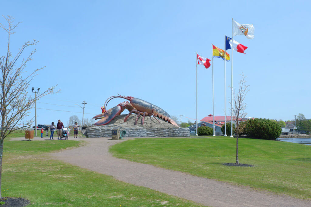 shediac playground daytrip pickle planet rotary park beach things to do with kids moncton dieppe riverview summer adventures big lobster roadside attraction animal sculpture