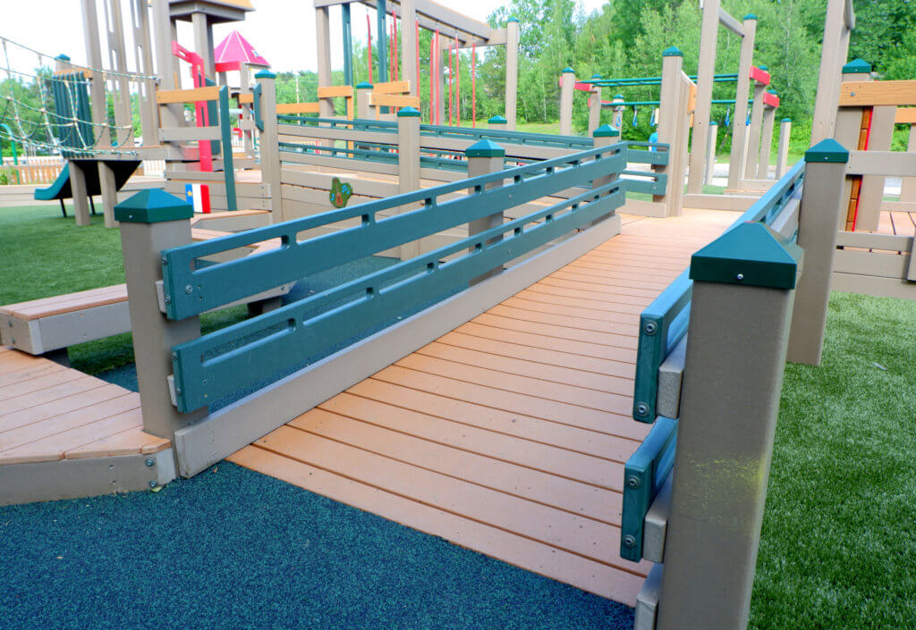 Rebecca Schofield All World Super Play Park accessible inclusive moncton riverview new brunswick dieppe best playgrounds ramps pickle planet