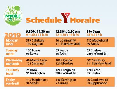 mobile fun schedule moncton 2019 free playground fun ymca pickle planet