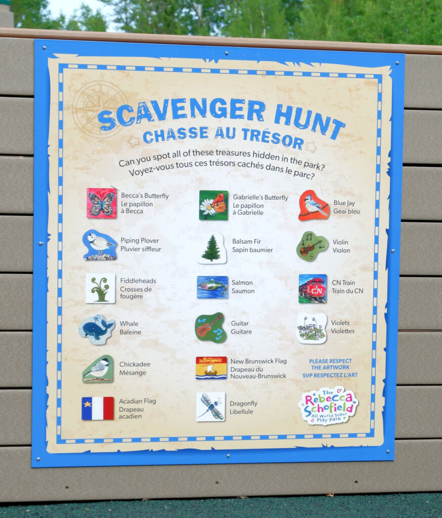 rebecca schofield all world super play park riverview moncton playground castle scavenger hunt